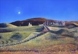 Autumn Light Kilchoman by John Rowland, Painting, Pastel