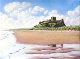 Bamburgh Sands by John Rowland, Painting, Pastel on Paper