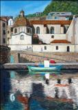 Bosa by John Rowland, Painting, Pastel on Paper