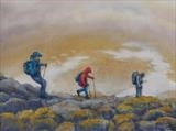 Descending Ben Chalbair by John Rowland, Painting