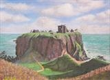 Dunnottar by John Rowland, Painting, Pastel on Paper
