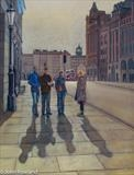 Edinburgh Shadows by John Rowland, Painting, Pastel