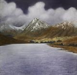 End of the Loch by John Rowland, Painting, Pastel