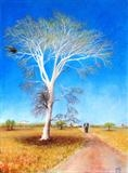 Fever Tree by John Rowland, Painting, Pastel on Paper