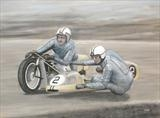 Full throttle by John Rowland, Painting, Pastel on Paper