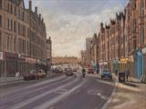 Glasgow High Street by John Rowland, Painting, Pastel