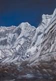 Ice Wall by John Rowland, Painting, Charcoal & Pastel