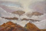 Light Beyond the Precipice by John Rowland, Painting, Pastel