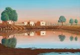 One Morning in Sind by John Rowland, Painting, Pastel