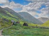 Passing through Kintail by John Rowland, Painting, Pastel