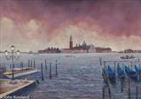 San Giorgio by John Rowland, Painting, Pastel on Paper