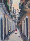 Siracusa Back Street by John Rowland, Painting, Pastel