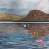 The Buoys of Loch Lomond by John Rowland, Painting, Pastel
