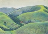The Rolling Hills of Bocaina by John Rowland, Painting, Pastel on Paper