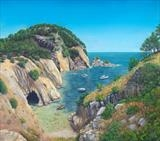 Tranquil Cove by John Rowland, Painting, Pastel