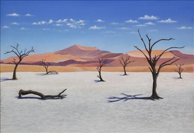 Dead Vlei by John Rowland, Painting, Pastel on Paper