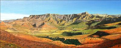 Drakensberg Ampitheatre by John Rowland, Painting, Oil on canvas