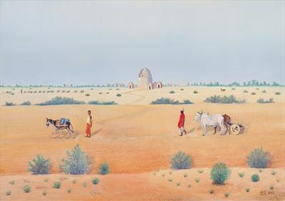 Once Upon a Time in Baluchistan by John Rowland, Painting, Pastel